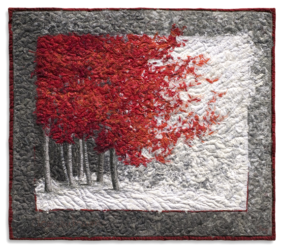 Red Maple 2008 28X32 Wall mounted quilt